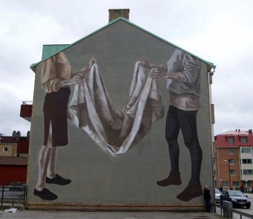 Hyuro's new piece in Trollhatan, Sweden.