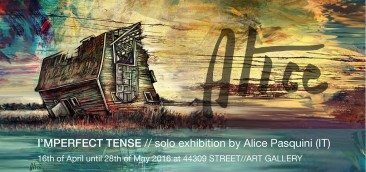 Alice Pasquini's Solo Show at 44309 STREET//ART GALLERY