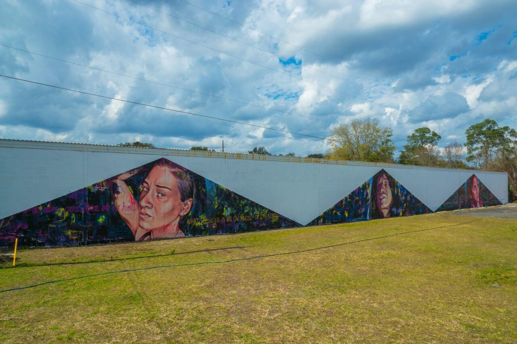 Nicole Holderbaum Paints A Mural In Gainesville Florida