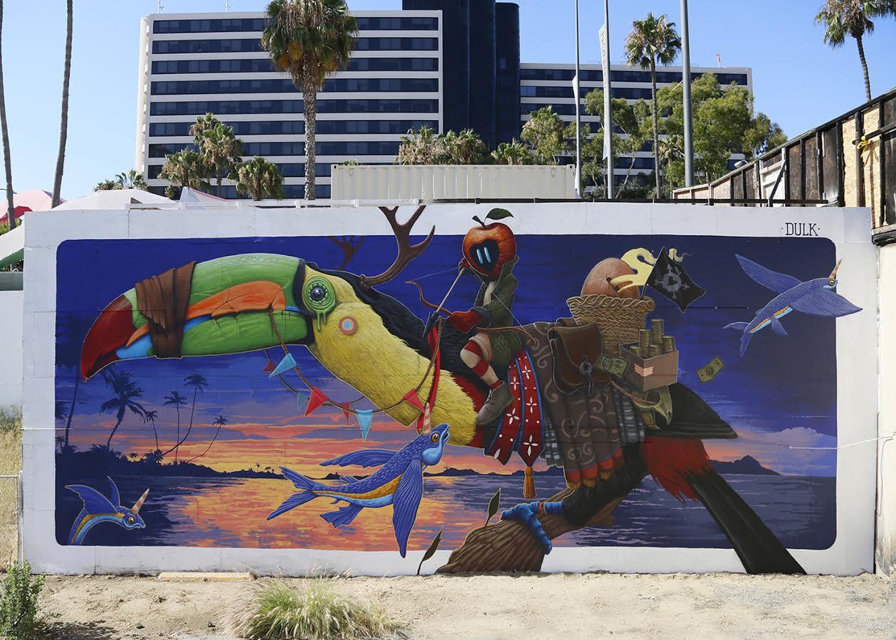 Dulk S Mural At Pow Wow Long Beach Street Art United